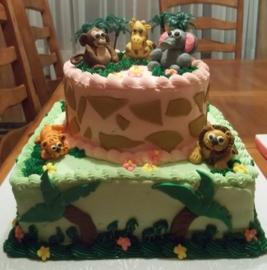 Jungle Babies on Cake Central