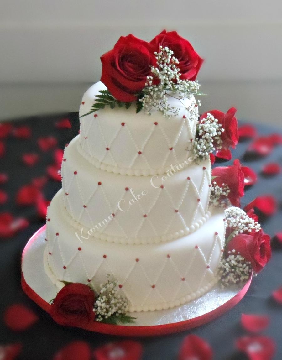 Red Polka Dot Wedding Cake