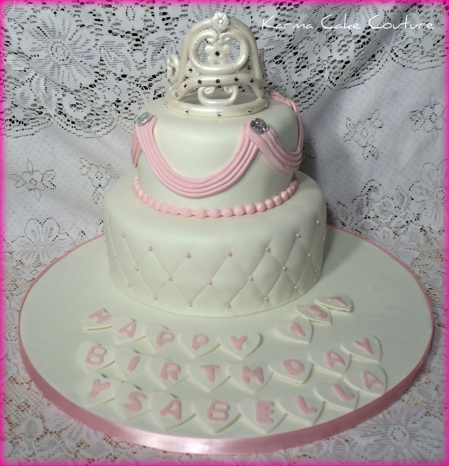 Princess Themed 1St Birthday Cake on Cake Central