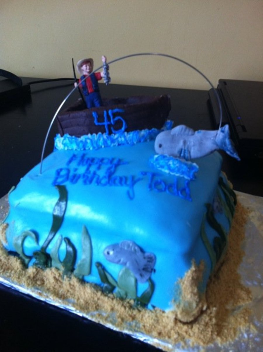 Outstanding Fisherman Birthday Cake Cakecentral Com Funny Birthday Cards Online Alyptdamsfinfo