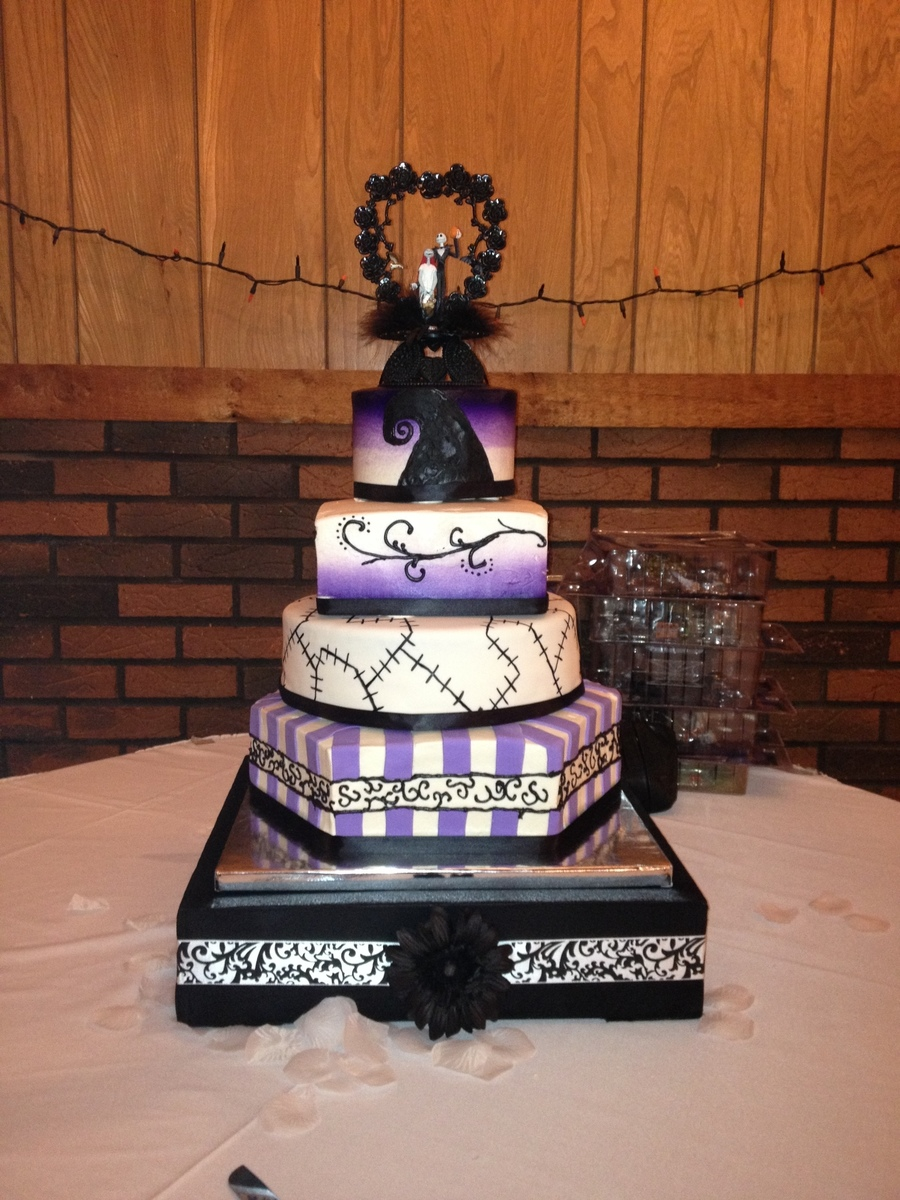 nightmare before christmas wedding cake on cake central - Nightmare Before Christmas Wedding Decorations