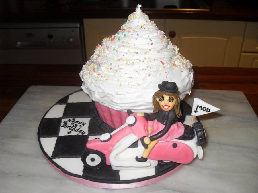 Giant Cupcake Mod Cake. on Cake Central