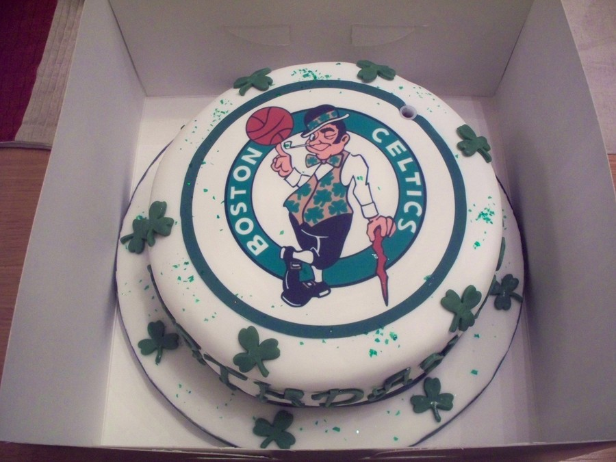 Excellent Boston Celtics Birthday Cake Cakecentral Com Personalised Birthday Cards Paralily Jamesorg