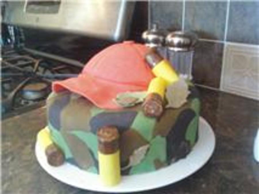 Hunting Themed Birthday Cake On Central