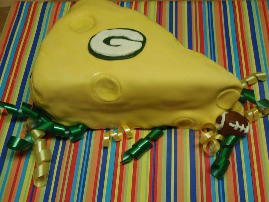 Request For A Green Bay Packers Personal Sized Cake Triple Chocolate Cake With A Strawberryvanilla Buttercream Filling Colored Mmf Layer  on Cake Central