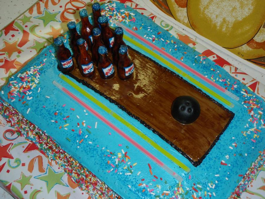 The Instruction For This Cake Was Beer And Bowling Made The Floor Out Of Mmf And Painted It With Oil Based Food Coloring The Bowling Ba on Cake Central