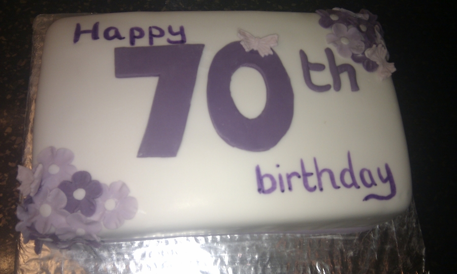 Purple Flowers on Cake Central