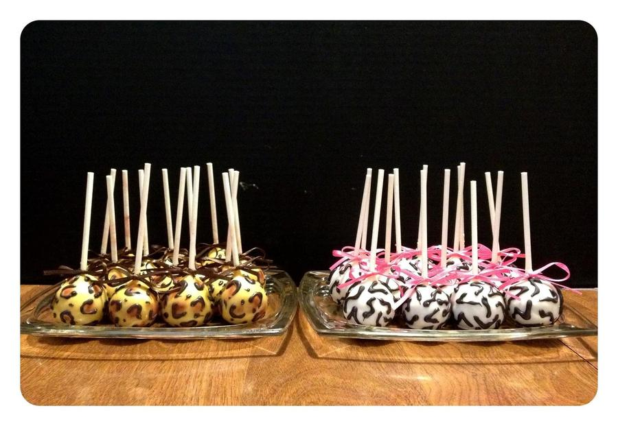 Zebra And Jaguar Cake Pops on Cake Central