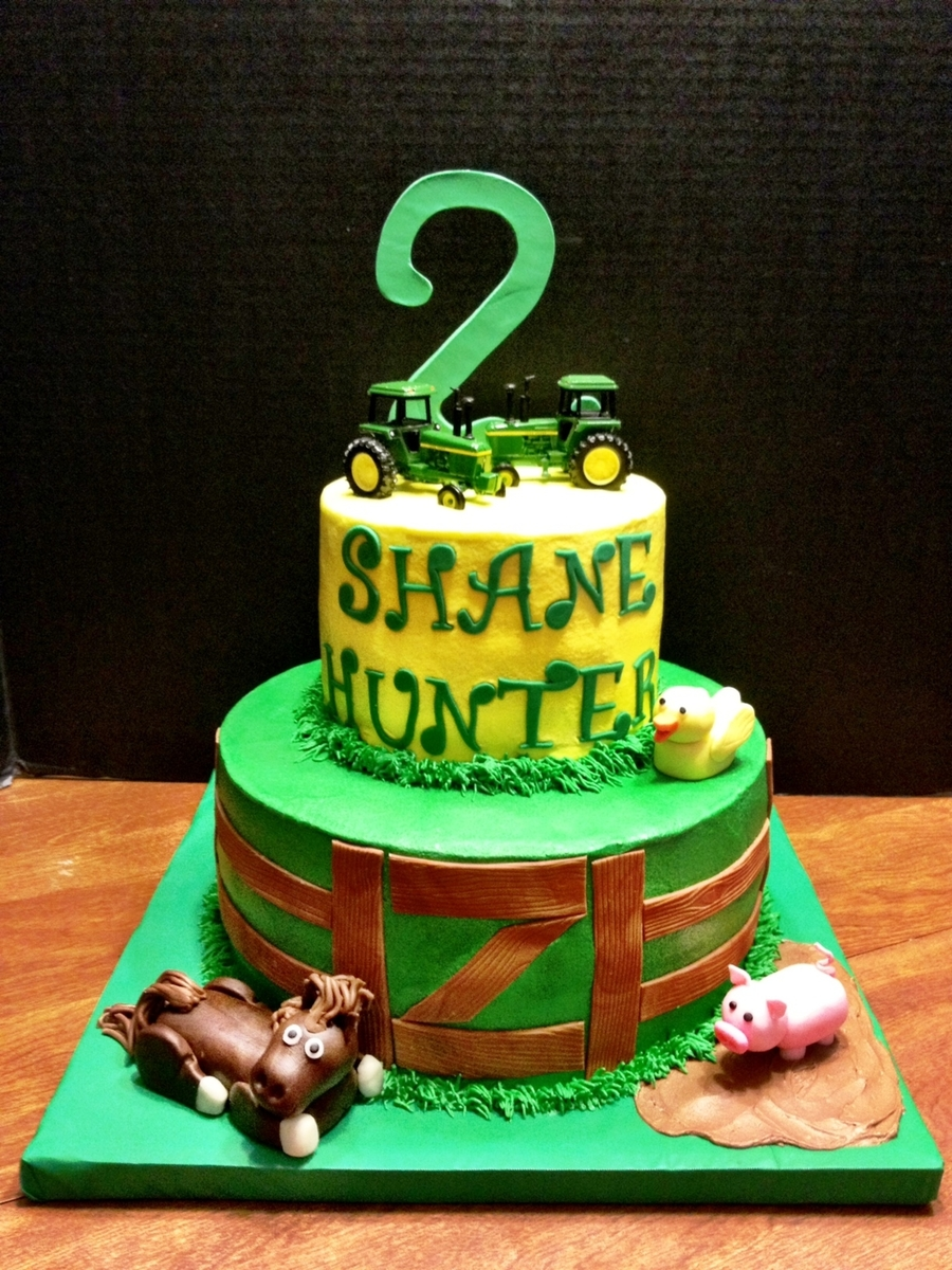 John Deere Cake For Twins on Cake Central