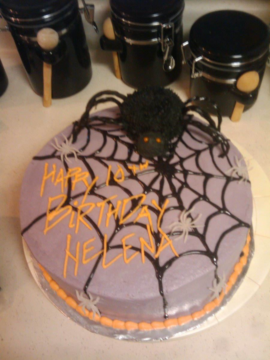 Remarkable Halloween Spider Birthday Cake Cakecentral Com Funny Birthday Cards Online Inifofree Goldxyz