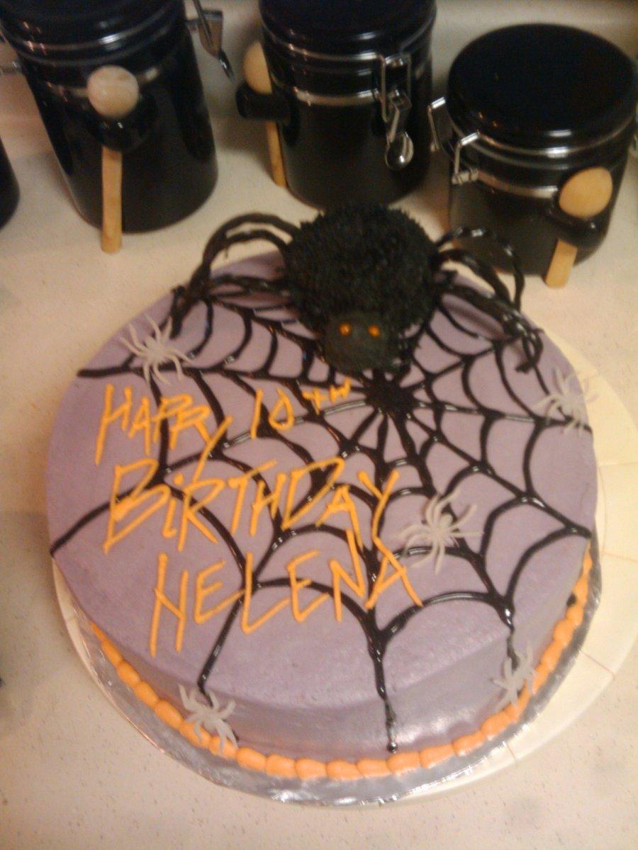 Terrific Halloween Spider Birthday Cake Cakecentral Com Funny Birthday Cards Online Barepcheapnameinfo