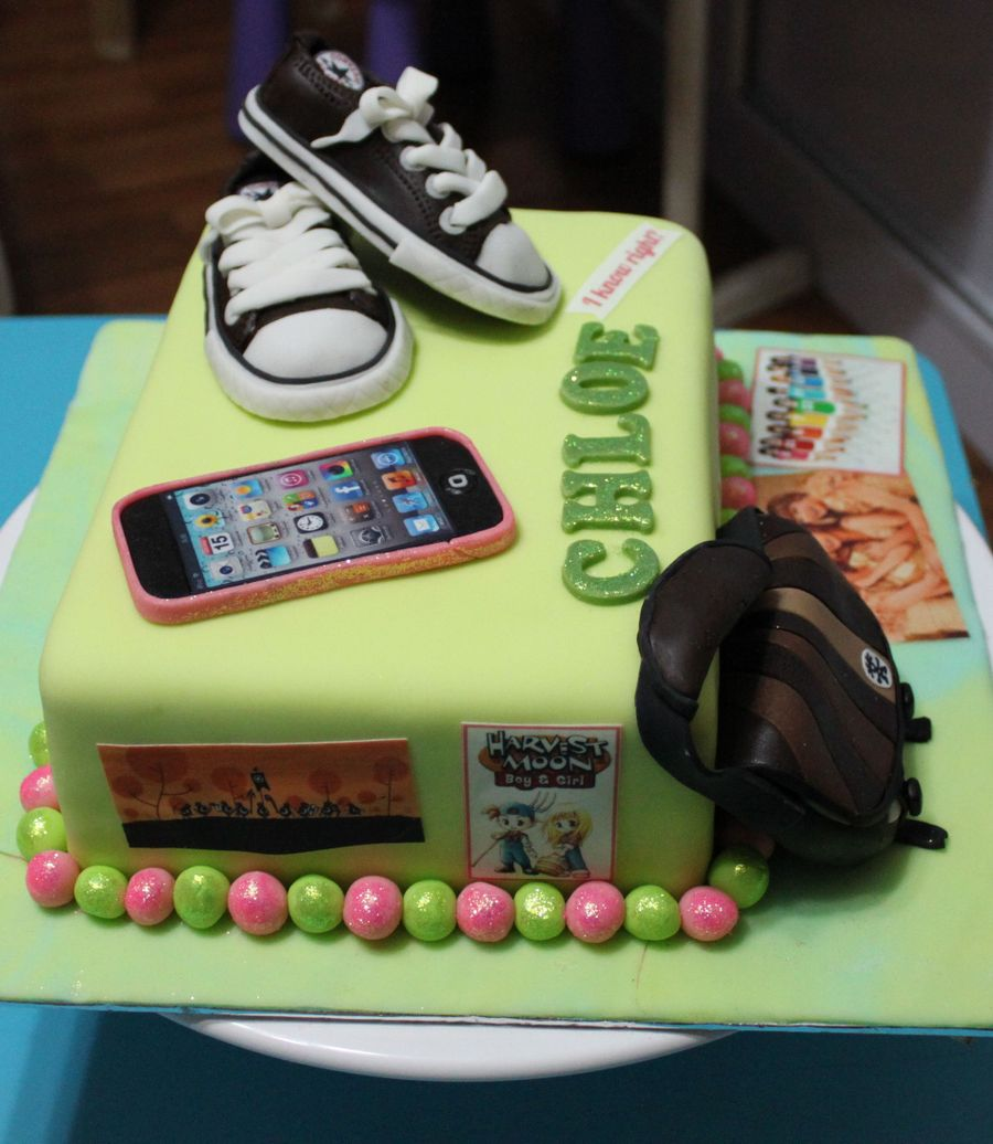 Birthday Cake 13 Year Old Boy I Baked And Decorated This For My Daughter Recently Its Made Of Mango Sponge Covered