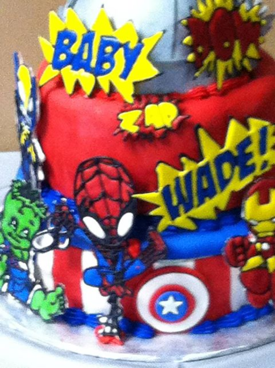 Marvel Baby Super Hero Cake Cakecentral