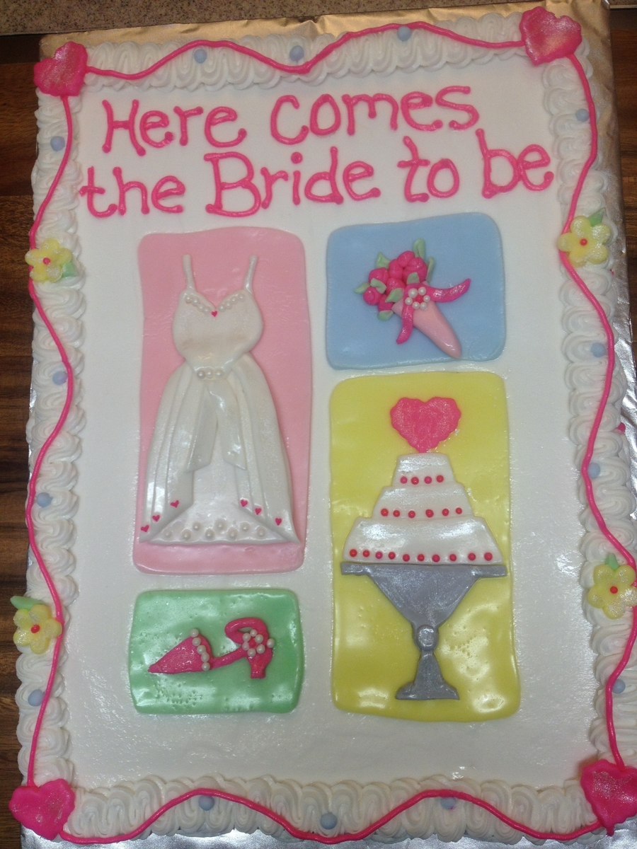 Here Comes The Bride To Be on Cake Central