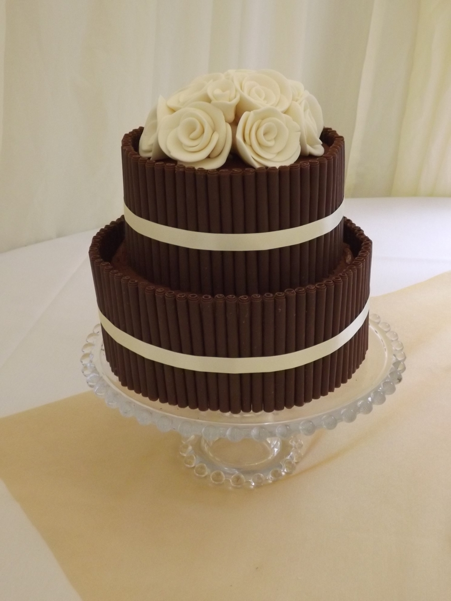 2 tiered wedding cake recipe chocolate cigarillo cake cakecentral 10126