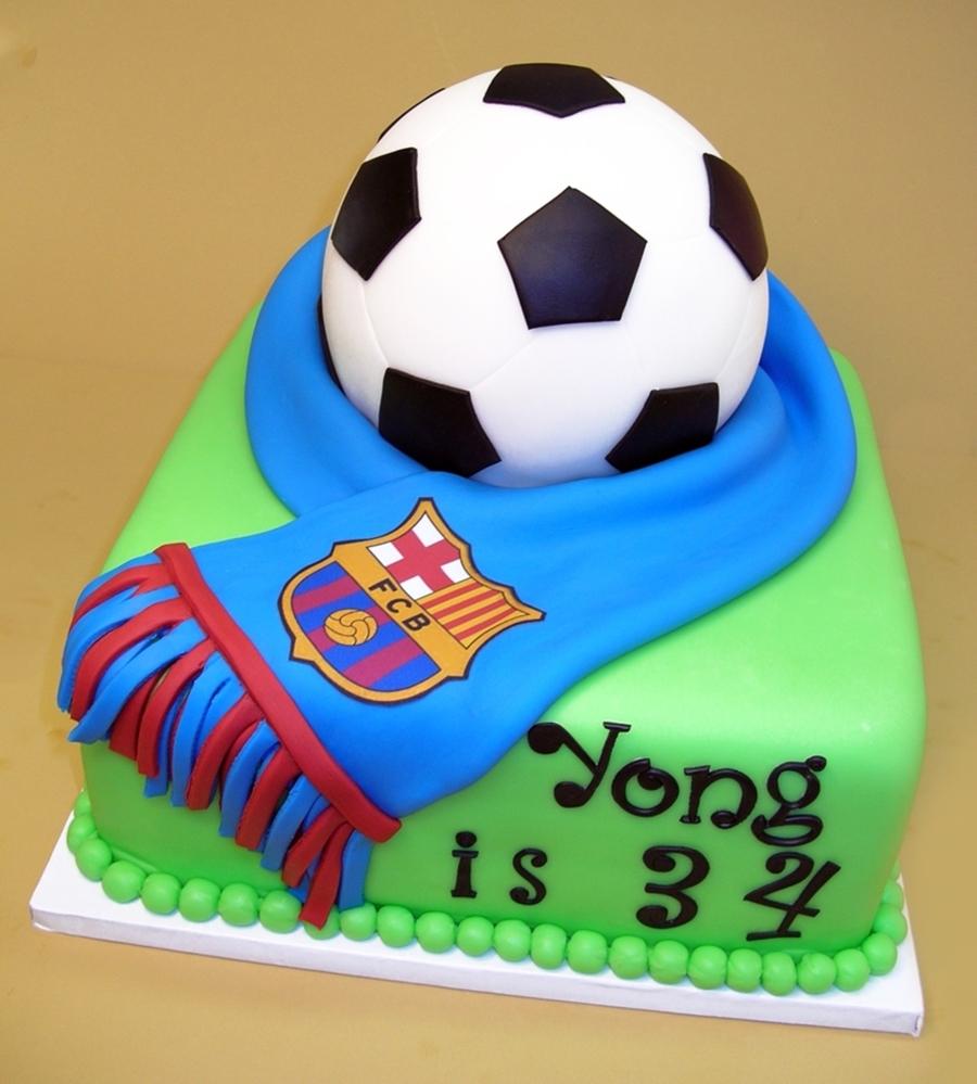 Soccer Cake: Barcelona Soccer Team