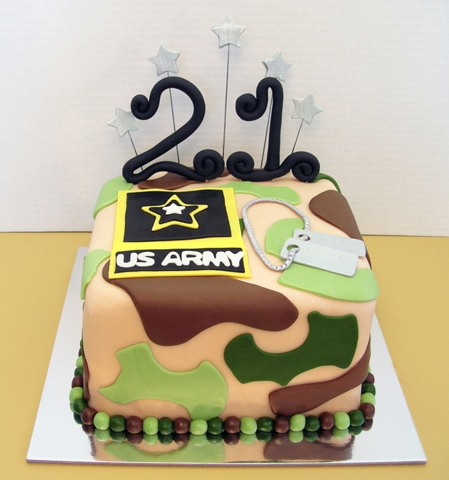 21St Birthday U.s. Army on Cake Central