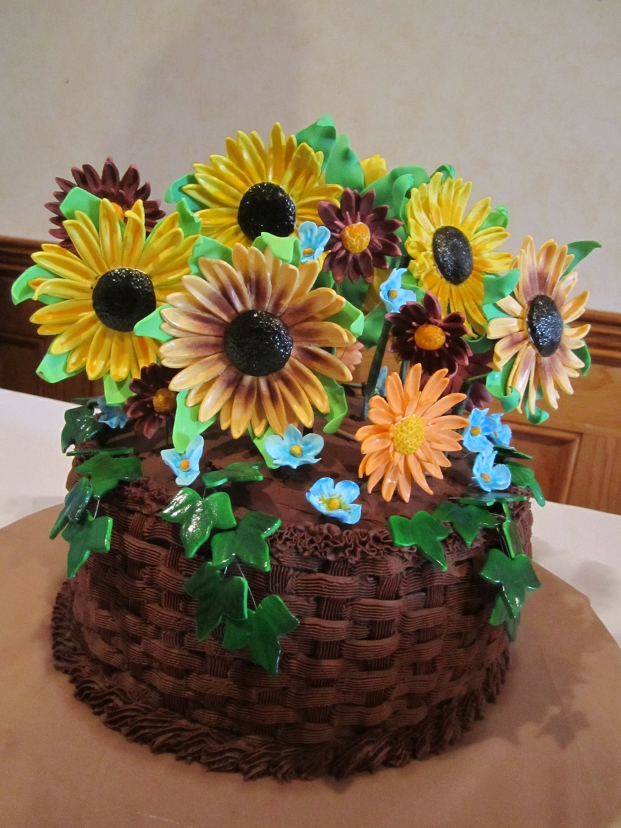 Flower Basket Cake on Cake Central