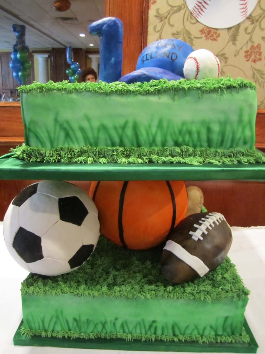 1St Birthday Sports Cake on Cake Central