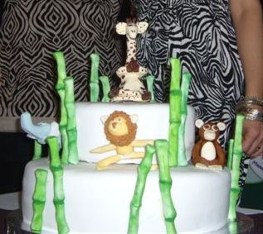 Yoga Instructors Baby Shower Cake  on Cake Central