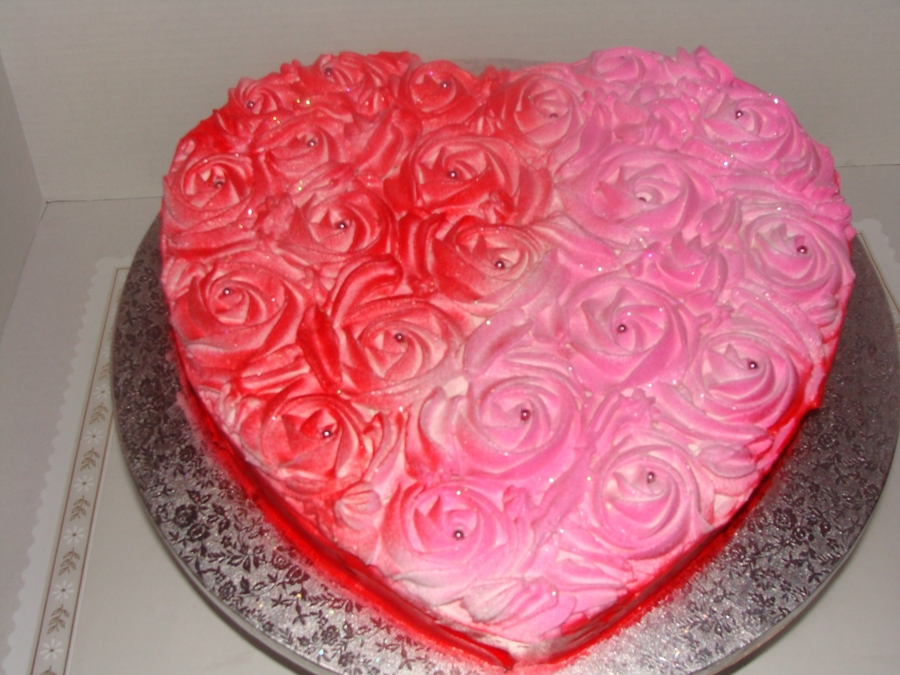 Heart Of Roses on Cake Central