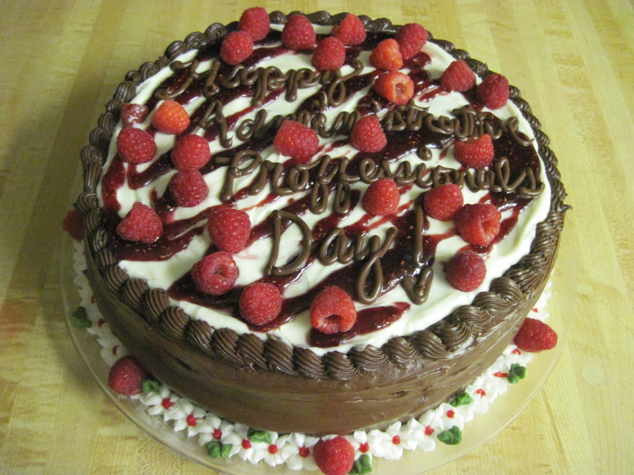 Sourcream Chocolate Raspberry on Cake Central