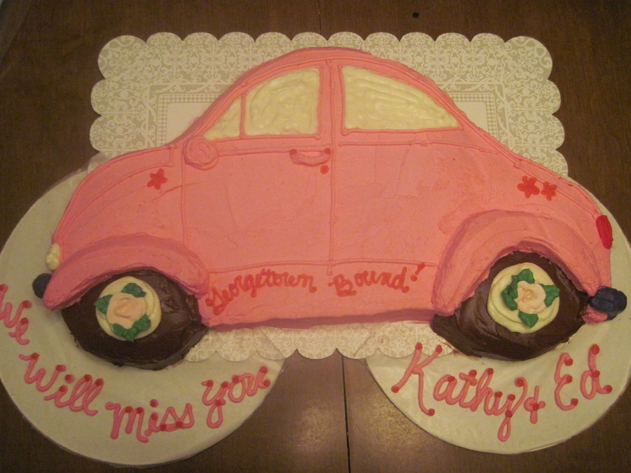 Pink Vw Bug  on Cake Central