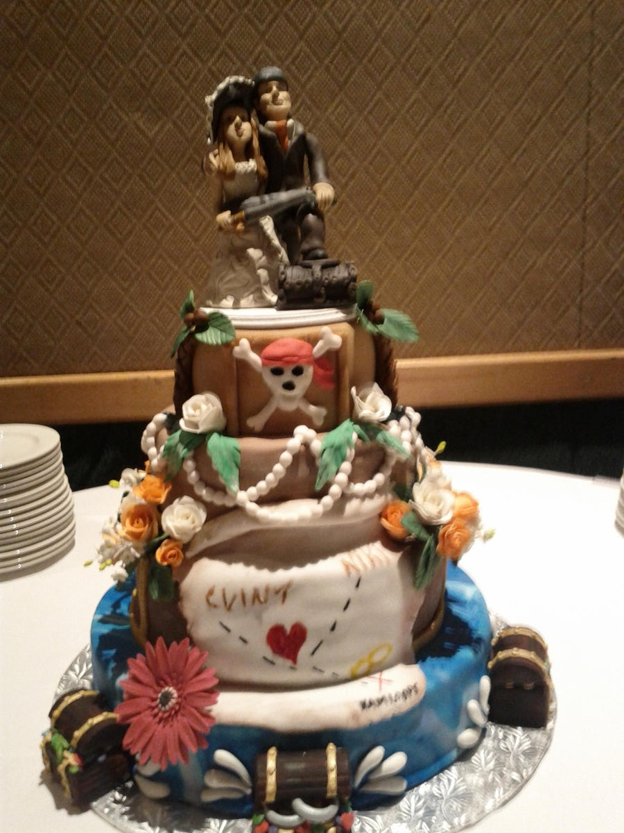 Pirate Themed Wedding Cake Cakecentral Com