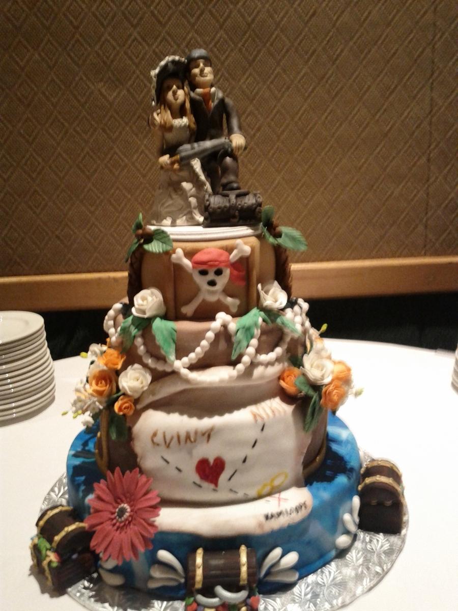 Pirates Of The Caribbean Wedding Cake