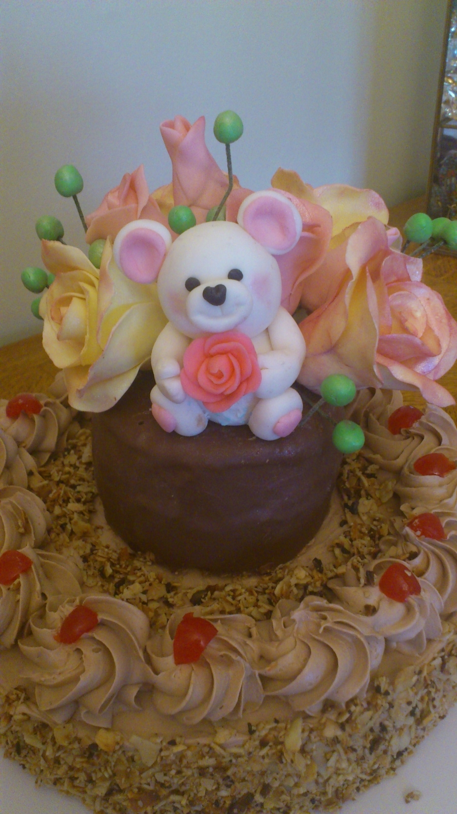 Flower Cake With Bear on Cake Central