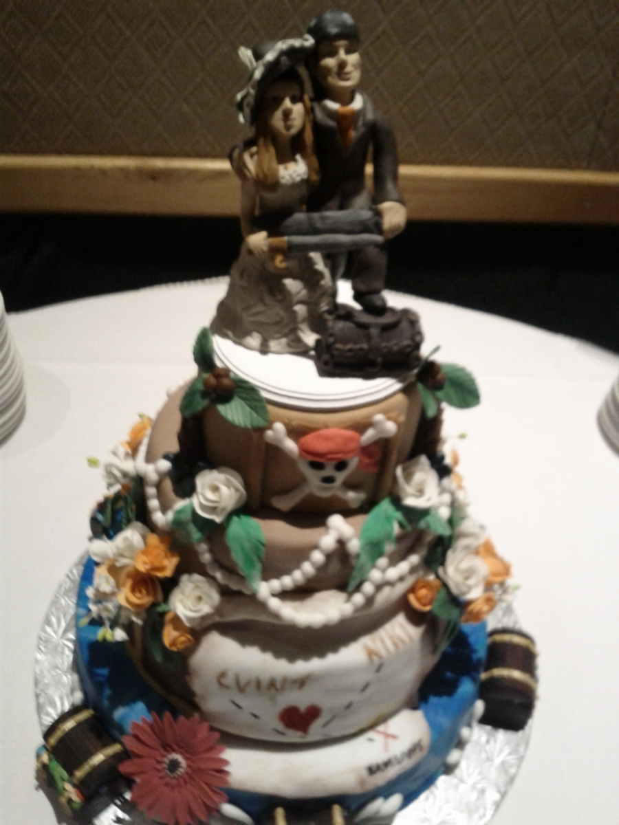 pirate ship wedding cake topper pirate themed wedding cake cakecentral 18617