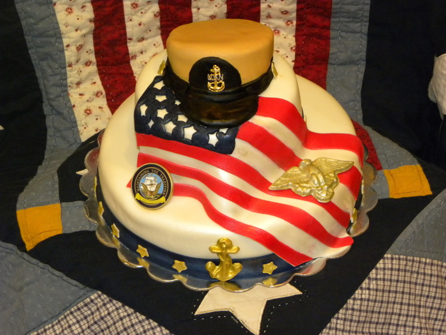 Us Navy Chief Retirement Cake Cakecentral Com