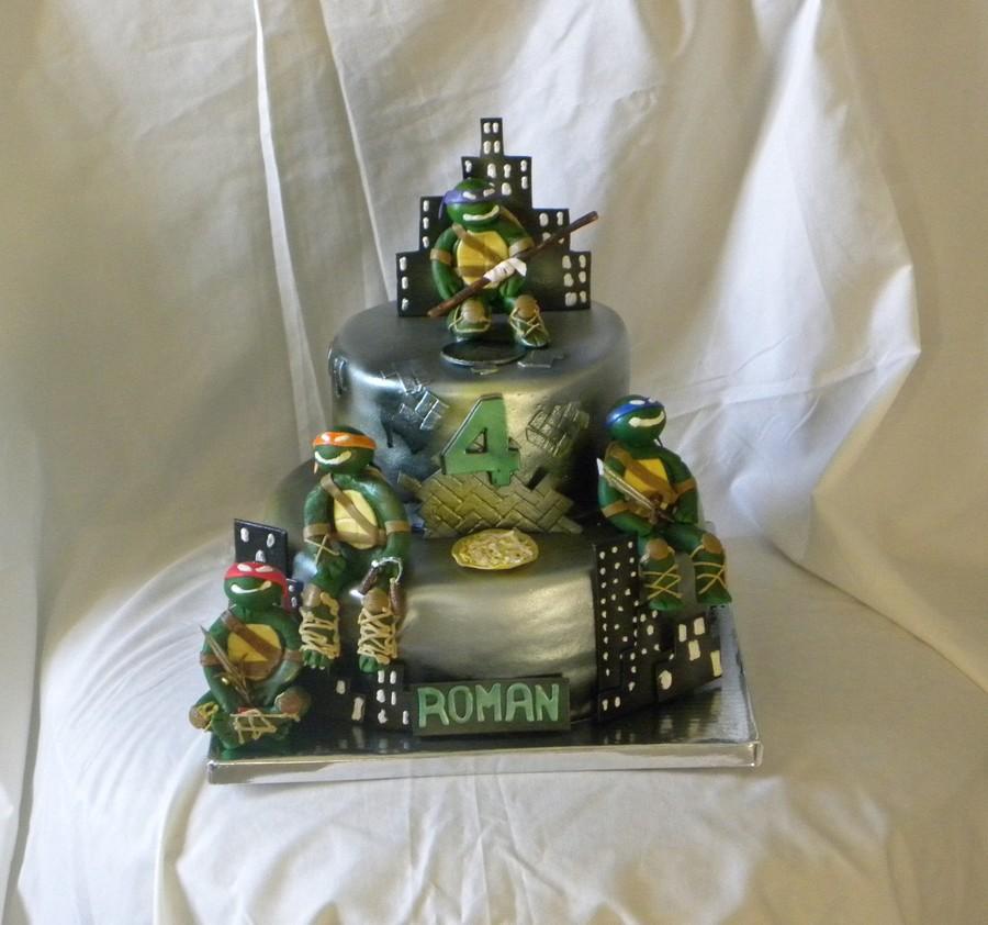 Teenage Mutant Ninja Turtle Cake Figures Made From