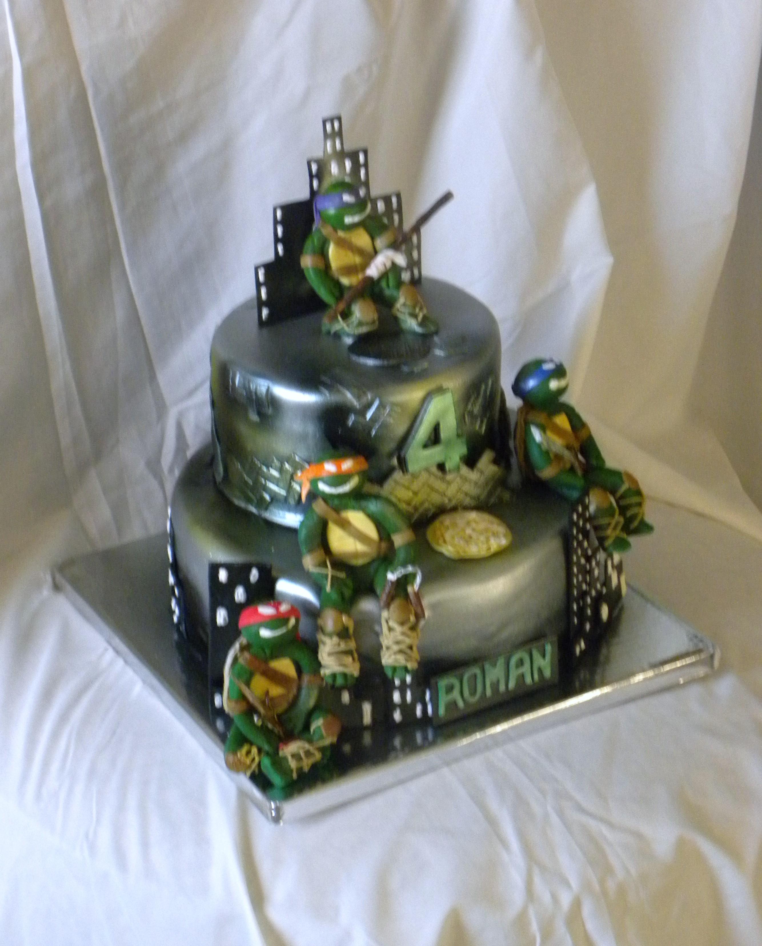 Teenage Mutant Ninja Turtle Cake Figures Made From ...