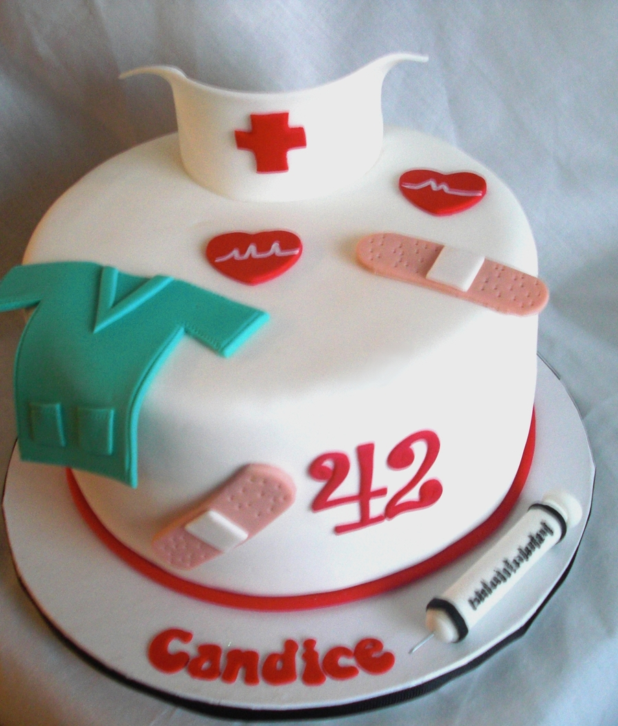 Nurse's Birthday Cake on Cake Central