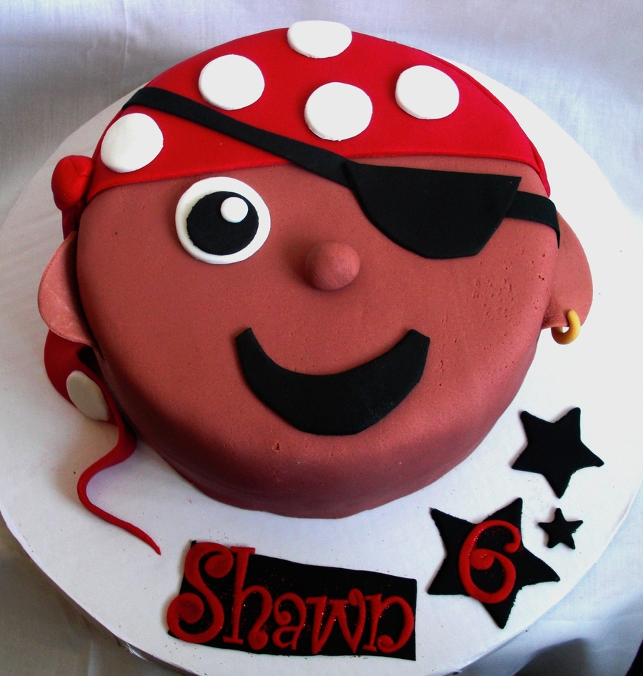 Lil Pirate Face Cake on Cake Central