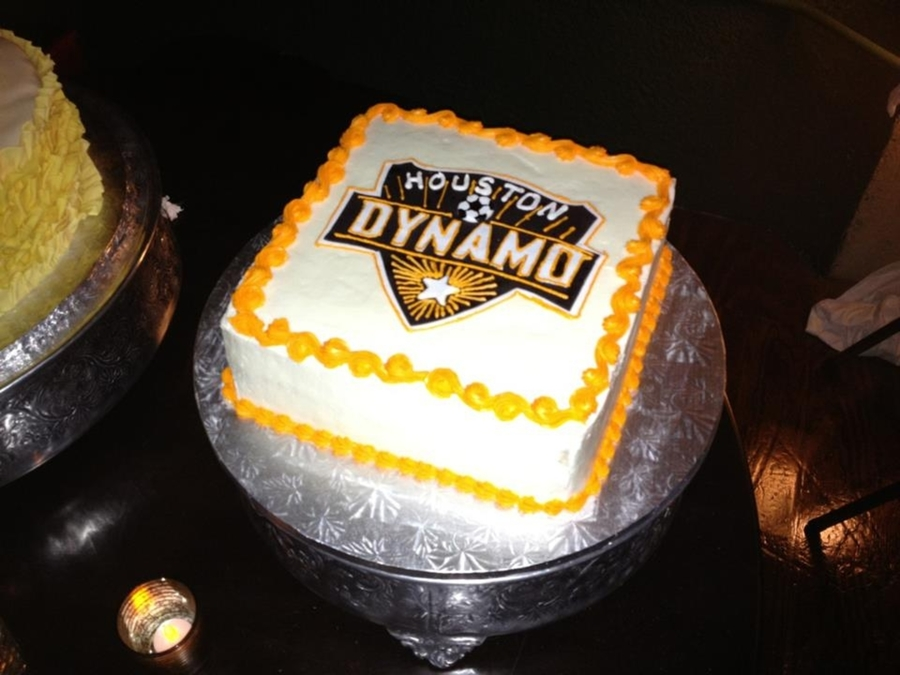 Houston Dynamo Grooms Cake  on Cake Central