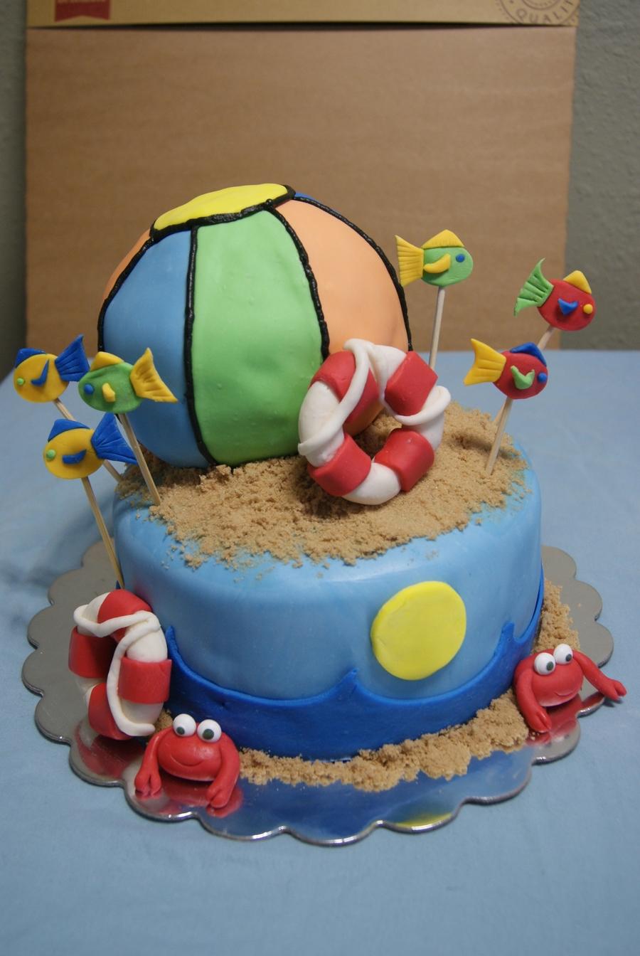Beach Ball Cake - CakeCentral.com