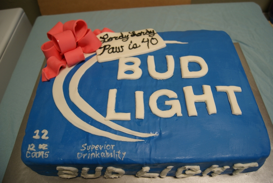 Bud Light Beer Case Cake On Central