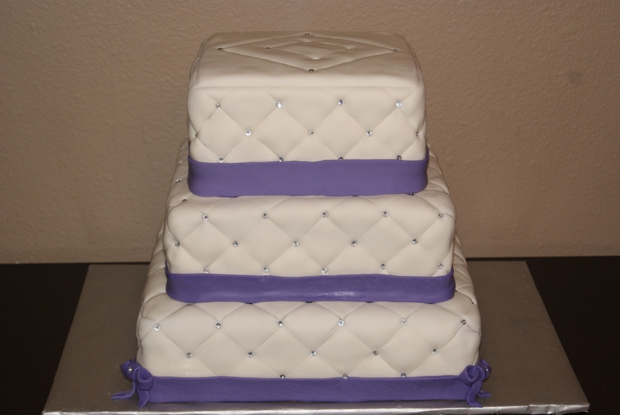 Diamond Quillted Cake on Cake Central