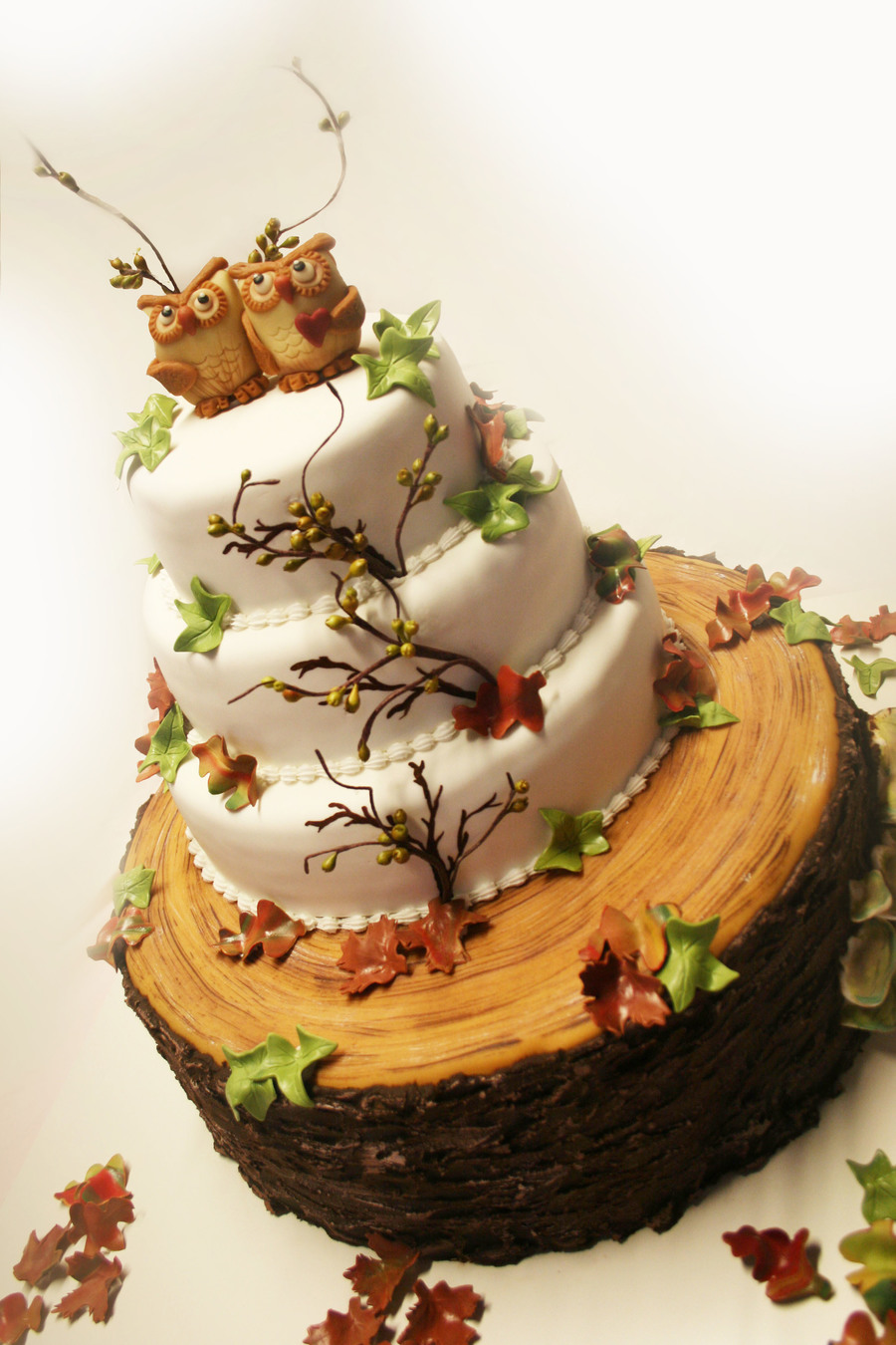 wedding cakes fall autumn wedding cake cakecentral 24337