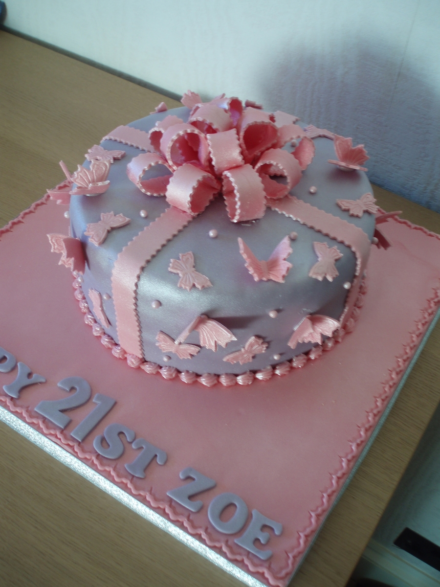 Butterflies And Bows Cake on Cake Central