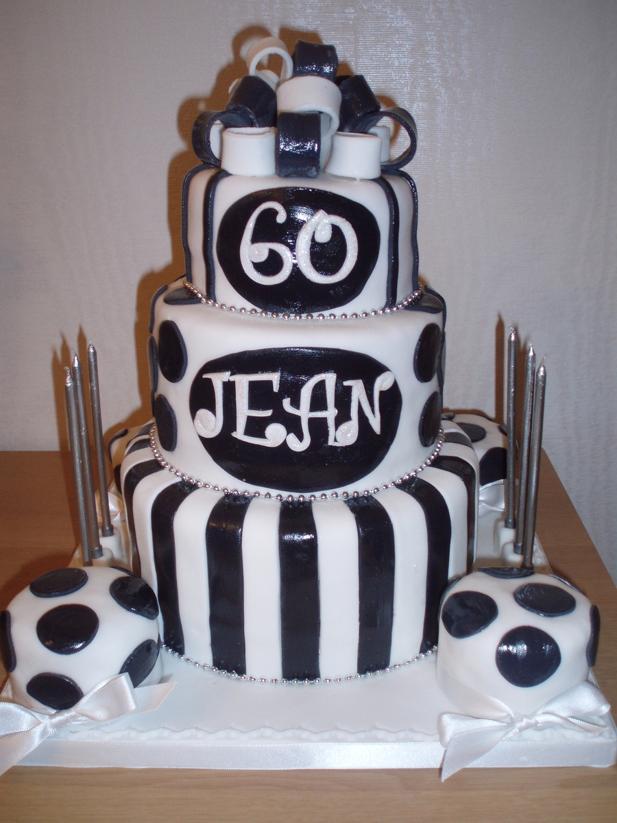 Black And White 60th Birthday Cake Cakecentral