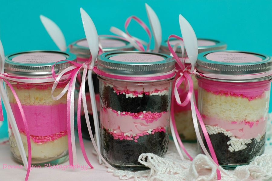 Breast Cancer Awareness Jar Cakes on Cake Central
