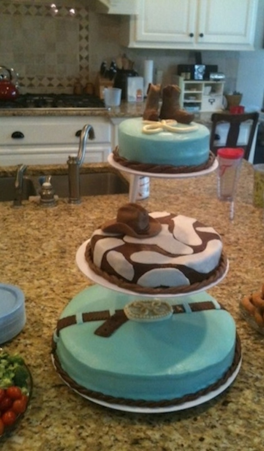 Tiered Cowboy Cake on Cake Central