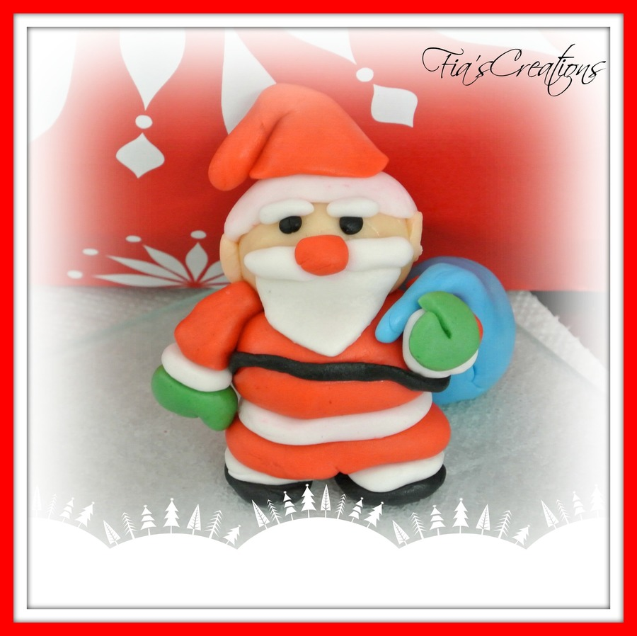 My 1St Fondant Santa Claus on Cake Central