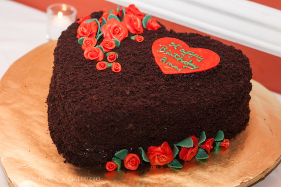 I Made This Cake For A Friends 60th Birthday It Is A Heart Shaped
