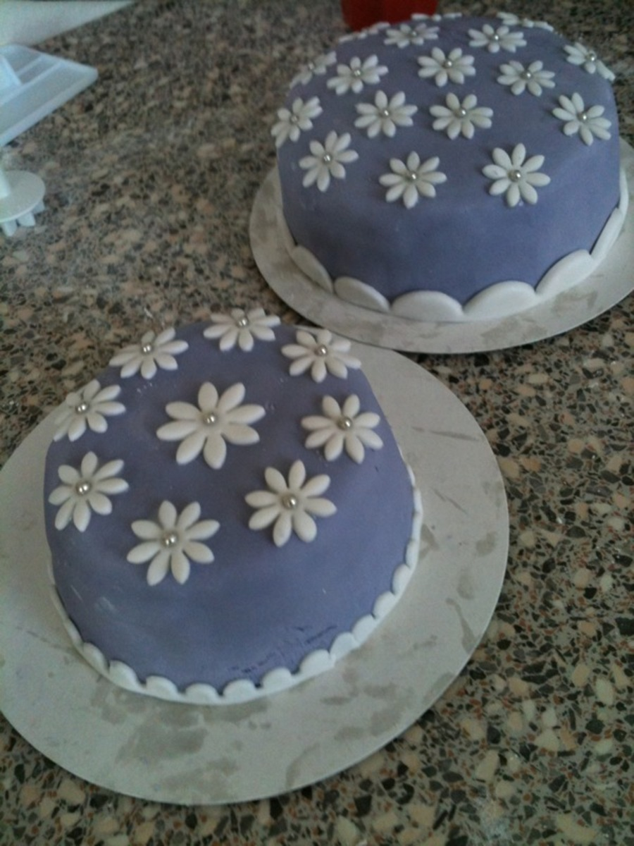 Purple Cake With Flowers on Cake Central
