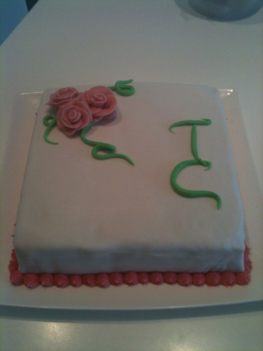 White Rose Cake  on Cake Central