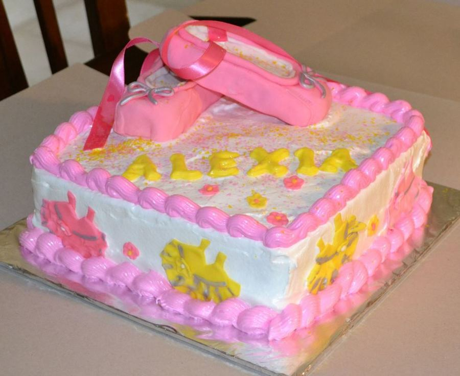 Ballerina Shoes on Cake Central